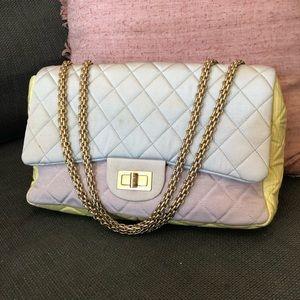 Chanel Tricolor Faille Jumbo 2.55 Reissue Flap Bag